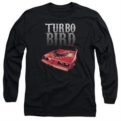 Pontiac Long Sleeve Shirt Turbo Bird Black Tee T-Shirt