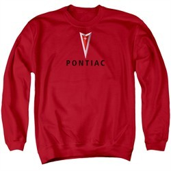 Pontiac Sweatshirt Modern Logo Adult Red Sweat Shirt