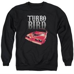 Pontiac Sweatshirt Turbo Bird Adult Black Sweat Shirt