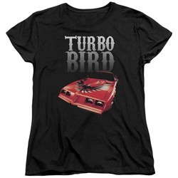Pontiac Womens Shirt Turbo Bird Black T-Shirt