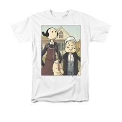 Popeye Shirt Popeye Gothic Adult White Tee T-Shirt