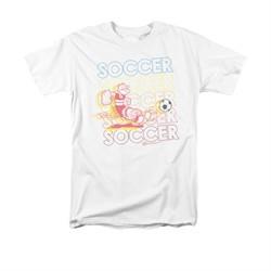 Popeye Shirt Soccer Adult White Tee T-Shirt