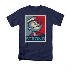 Popeye Shirt Strong Adult Navy Tee T-Shirt