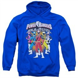 Power Rangers Ninja Steel Hoodie Team Royal Blue Sweatshirt Hoody