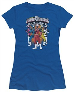 Power Rangers Ninja Steel Juniors Shirt Team Royal Blue T-Shirt