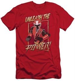 Power Rangers Ninja Steel Slim Fit Shirt Unleash Red T-Shirt