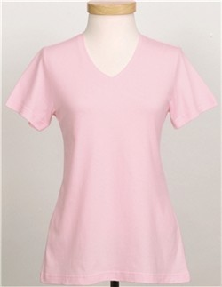 Premium Quality Ladies Shirt Cotton Short Sleeve V Neck Tee Shirt