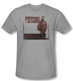 Psycho T-shirt Movie A True Psycho Adult Silver Slim Fit Tee Shirt