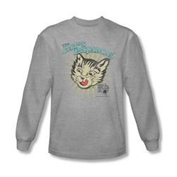 Puss N Boots Shirt Cat's Pajamas Long Sleeve Athletic Heather Tee T-Shirt