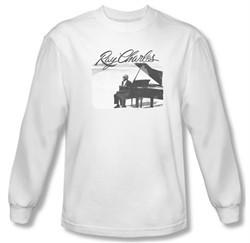 Ray Charles Shirt Sunny Ray Long Sleeve White Tee T-Shirt