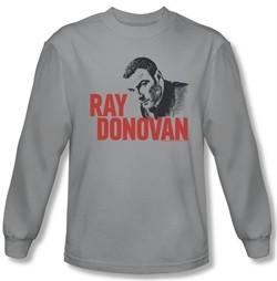 Ray Donovan Shirt Logo Long Sleeve Silver Tee T-Shirt