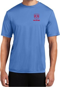 Red Dodge Ram Logo Pocket Print Dry Wicking T-shirt