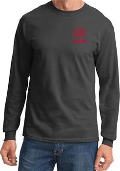 Red Dodge Ram Logo Pocket Print Long Sleeve