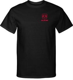 Red Dodge Ram Logo Pocket Print Tall T-Shirt