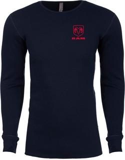 Red Dodge Ram Logo Pocket Print Thermal Shirt