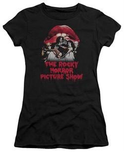 Rocky Horror Picture Show  Juniors Shirt Cast Throne Black T-Shirt