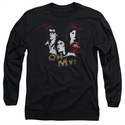 Rocky Horror Picture Show  Long Sleeve Shirt Oh My Black Tee T-Shirt