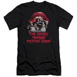 Rocky Horror Picture Show  Slim Fit Shirt Cast Throne Black T-Shirt