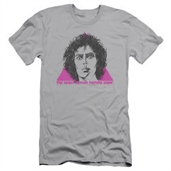 Rocky Horror Picture Show  Slim Fit Shirt Frank Face Silver T-Shirt