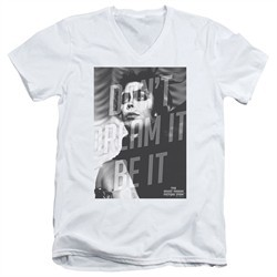 Rocky Horror Picture Show  Slim Fit V-Neck Shirt Be It White T-Shirt