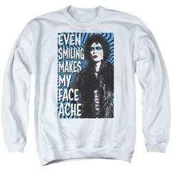 Rocky Horror Picture Show  Sweatshirt Face Ache Adult White Sweat Shirt