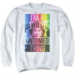 Rocky Horror Picture Show  Sweatshirt Wild Thing Adult White Sweat Shirt