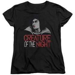 Rocky Horror Picture Show  Womens Shirt Creature Of The Night Black T-Shirt