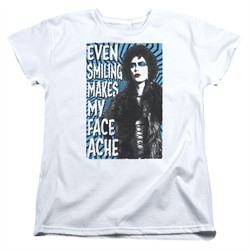 Rocky Horror Picture Show  Womens Shirt Face Ache White T-Shirt
