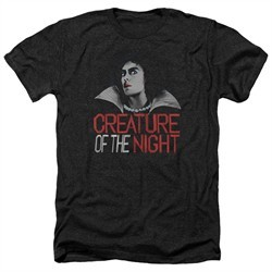 Rocky Horror Picture Show Shirt Creature Of The Night Heather Black T-Shirt