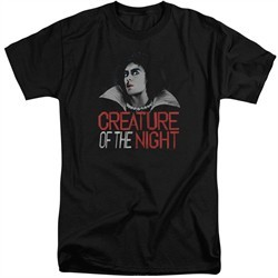 Rocky Horror Picture Show Shirt Creature Of The Night Tall Black T-Shirt