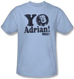 Rocky Kids T-shirt Yo Adrian Classic Youth Light Blue Tee Shirt