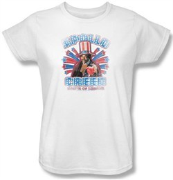 Rocky Ladies T-shirt Apollo Creed Classic White Tee Shirt