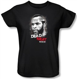 Rocky Ladies T-shirt Dead Meat Classic Black Tee Shirt