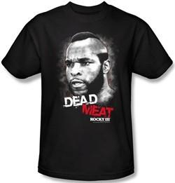 Rocky T-shirt Dead Meat Classic Adult Black Tee Shirt