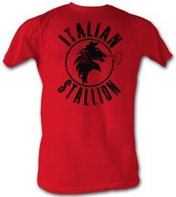 Rocky T-shirt Italian Stallion Classic Adult Red Tee Shirt