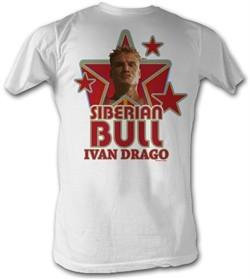 Rocky T-shirt Siberian Bull Ivan Drago Adult White Tee Shirt