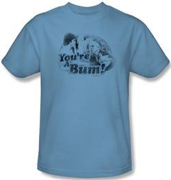 Rocky T-shirt You're A Bum Adult Carolina Blue Tee Shirt