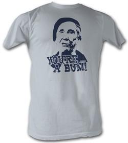 Rocky T-shirt You're a Bum Classic Adult Silver Tee Shirt