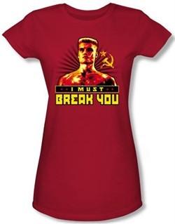 Rocky Juniors T-Shirt I Must Break You Drago Red Tee Shirt