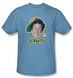 Saved by the Bell Shirt Screech Adult Carolina Blue Tee T-Shirt