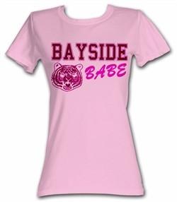 Saved By The Bell Juniors Shirt Bright Logo Pink Tee T-Shirt