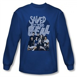 Saved By The Bell Shirt Cast Long Sleeve Royal Blue T-Shirt