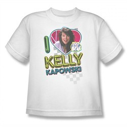 Saved By The Bell Shirt Kids Kelly White Youth T-Shirt