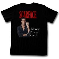 Scarface Shirt Money Power Respect Black T-Shirt