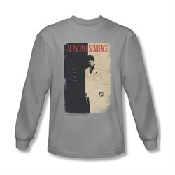 Scarface Shirt Vintage Poster Long Sleeve Silver Tee T-Shirt