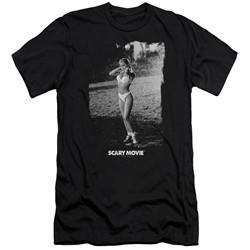 Scary Movie  Slim Fit Shirt Carmen Electra Help Me Black T-Shirt