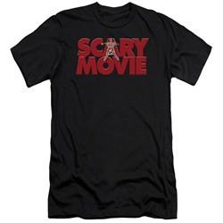 Scary Movie  Slim Fit Shirt Logo Black T-Shirt