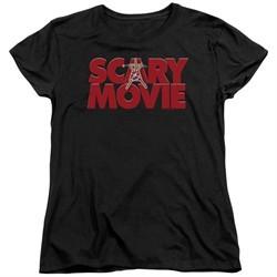 Scary Movie  Womens Shirt Logo Black T-Shirt