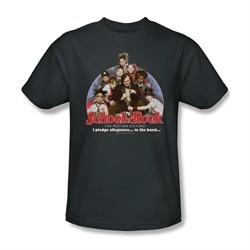 School Of Rock Shirt I Pledge Allegiance Adult Charcoal Tee T-Shirt