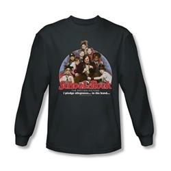 School Of Rock Shirt I Pledge Allegiance Long Sleeve Charcoal Tee T-Shirt